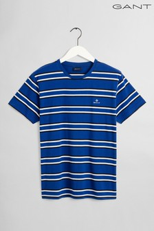GANT Blue Multi Stripe T-Shirt