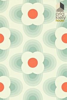 Orla Kiely Duck Egg Blue Striped Petal Wallpaper
