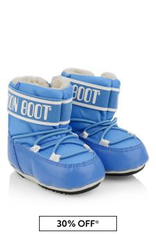 Baby Boys Light Blue Crib Booties