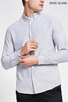 River Island Grey Light Striped Shirt
