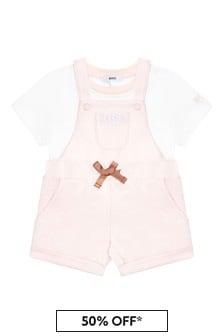 Boss Kidswear Baby Girls Pink Cotton Set