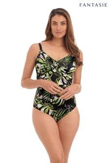 Fantasie Black Palm Valley Under Wire Twist Front Swimsuit