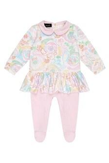Versace Baby Pink Cotton Babygrow