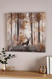 Deer in Woods Canvas
