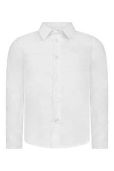 Emporio Armani Boys White Cotton Shirt