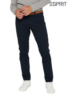 Esprit Blue Chino Slim Fit Pants
