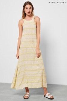 Mint Velvet Yellow Callie Floral Maxi Sun Dress