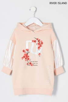 River Island Pink Light Hybrid Oriental Sweat Dress