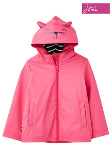 Joules Pink Riverside Novelty Rubber Coat
