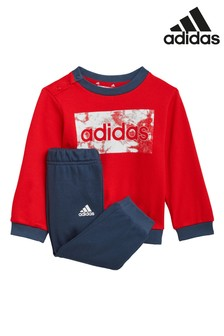 adidas Infant Linear Logo Crew Neck Top and Jogger Set