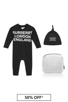 Burberry Kids Baby Cotton Romper Set