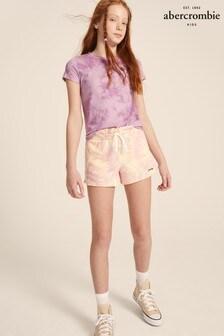 Abercrombie & Fitch Purple Tie Dye Jersey Shorts