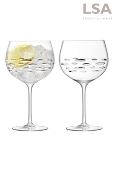 Set of 2 Balloon Gin Glasses by LSA International