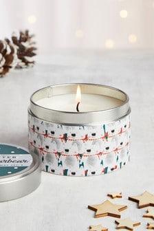 Almond Biscotti Tin Candle