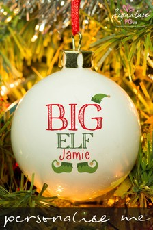 Personalised Big Elf Bauble by Signature Gifts