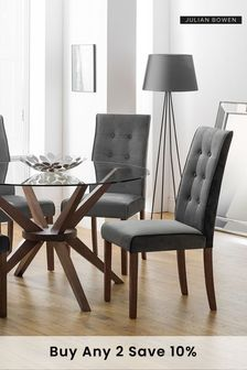 Set of 2 Madrid Velvet Dining Chairs by Julian Bowen