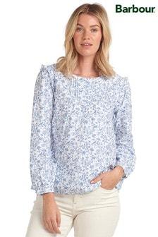 Barbour®/Laura Ashley Blue Floral Print Spruce Top