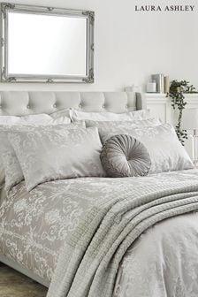 Laura Ashley Josette Jacquard Duvet Cover and Pillowcase Set