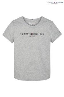 Tommy Hilfiger Grey Essential Branded T-Shirt