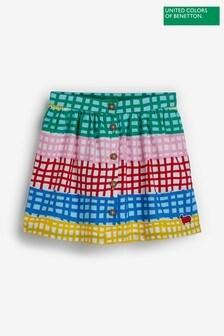 Benetton Gingham Skirt