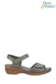 Fleet & Foster Green Linden Touch Fastening Sandals
