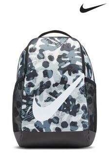 Nike Kids Black Printed Brasilia Backpack