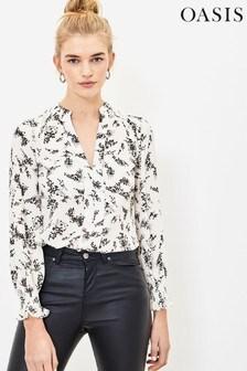 Oasis Natural Mini Blossom Floral Shirt