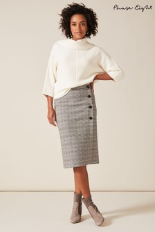 Phase Eight Grey Caleb Check Pencil Skirt