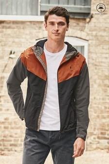 Shower Resistant Colourblock Jacket With Fleece Lining