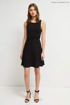 French Connection Black Tia Tobey Fit N Flare Dress