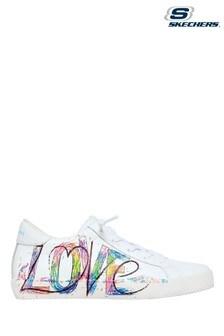 Skechers White D'Lux Walker Pillow Heaven Shoes