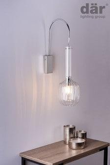 Dar Lighting Silver Eifel Wall Light