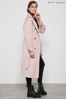 Mint Velvet Neutral Longline Trench Coat