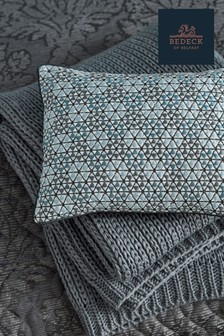 Bedeck of Belfast Allegro Geo Embroidered Cushion