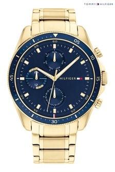 Tommy Hilfiger Watch With Gold IP Bracelet