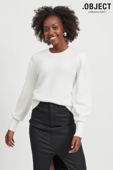 OBJECT White Long Sleeve Kelly Jumper