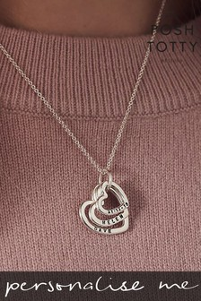 Personalised Family Names Heart Necklace by Posh Totty Designs