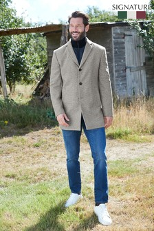 Zip Epsom Coat