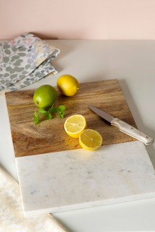 Marble And Wood Chopping Board