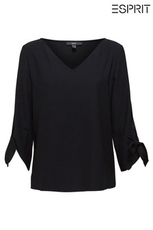 Esprit Black Mat Long Sleeve Boxy Top