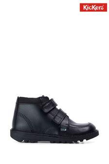 Kickers Junior Kick Hi Scuff Leather Shoes