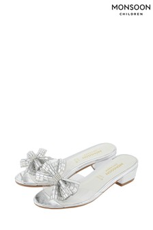 Monsoon Silver Princess Dazzle Slippers
