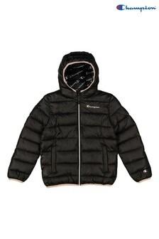 Champion Black Hooded Jacket