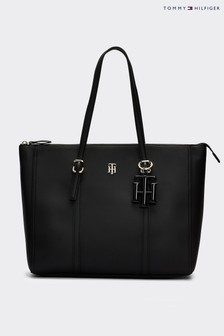 Tommy Hilfiger Black TH Chic Tote Bag