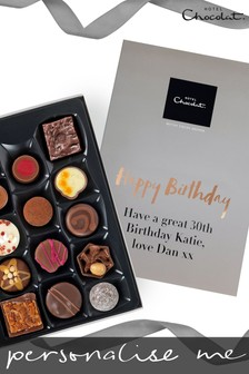 Personalised Happy Birthday Everything H Box by Hotel Chocolat