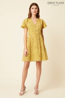 Great Plains Yellow Flo Chiffon Dress