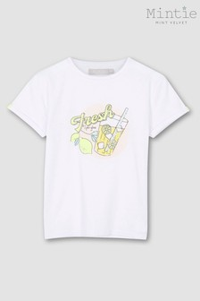 Mintie by Mint Velvet Ivory Graphic Lemonade T-Shirt
