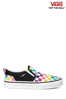 Vans Youth Asher Multi Checkerboard Trainers