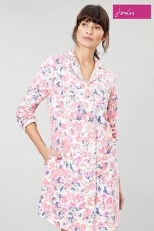 Joules Verity Gewebtes Nachthemd mit Blumen bedruckt