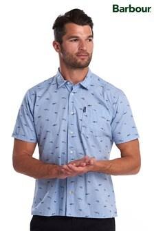 Barbour® Blue Summer Print Short Sleeve Shirt